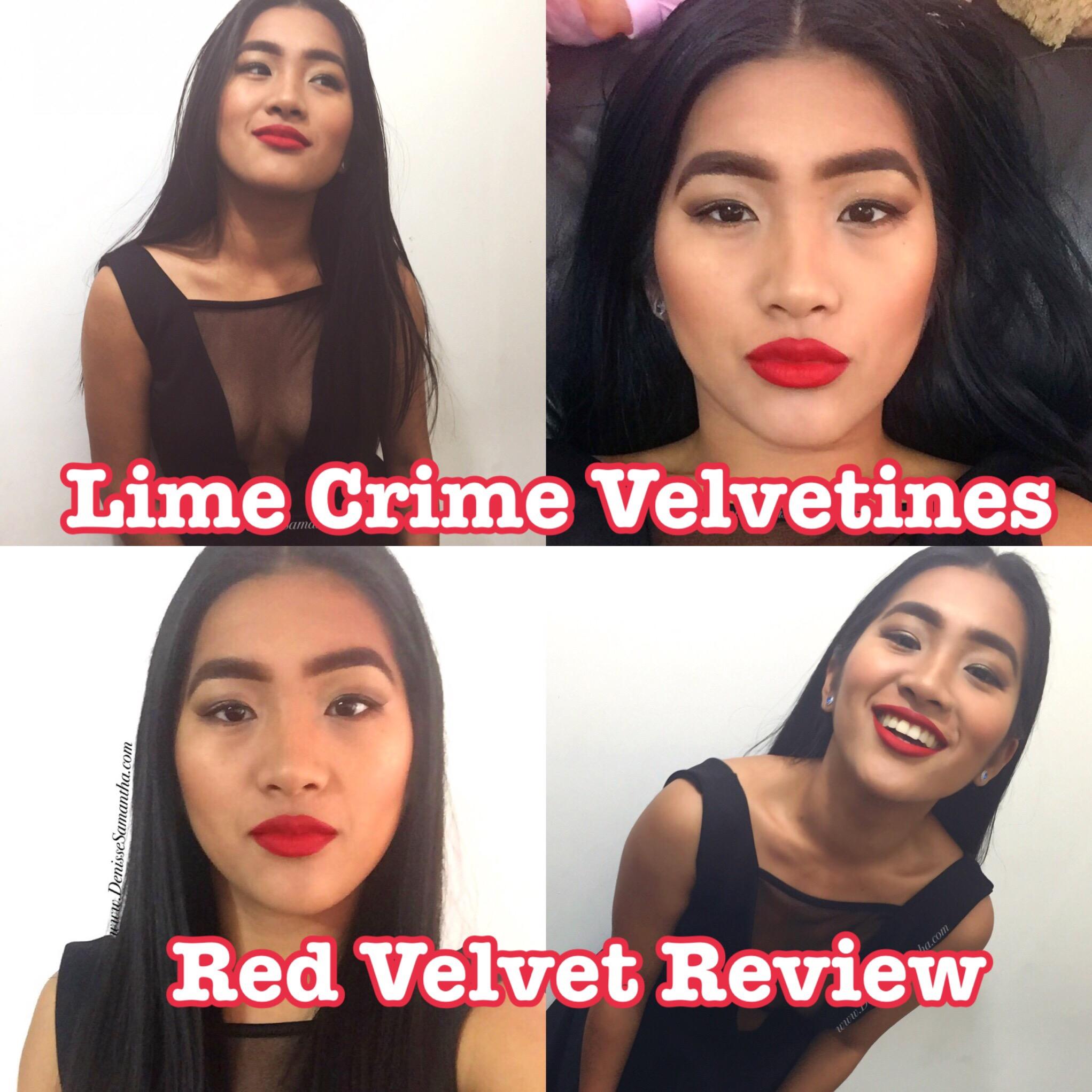 Lime Crime Velvetines in Red Velvet Review